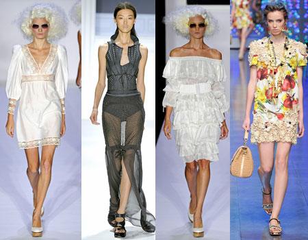 Бельевой стиль одежды в коллекциях Весна-Лето 2012.