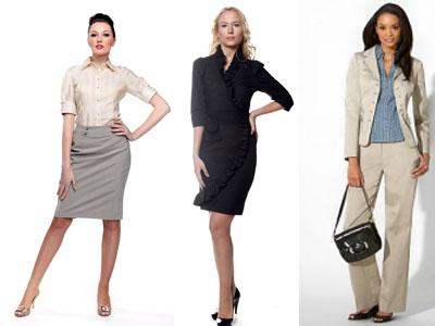 Описание: Деловой стиль одежды для девушек.