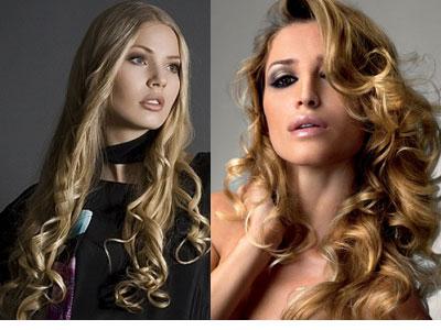 Химия на длинные волосы фото до и
