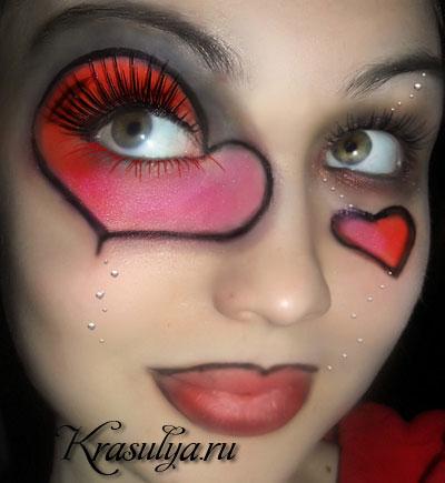 рисунки на лице фото красками