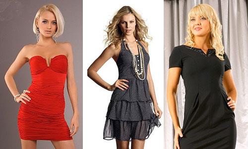Прежде чем идти покупать платье, необходимо определится, какая модель вам больше подходит - короткое коктейльное или