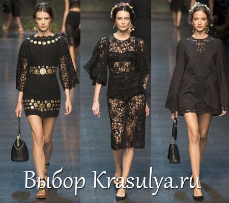 Черные кружевные платья от дольче габбана фото