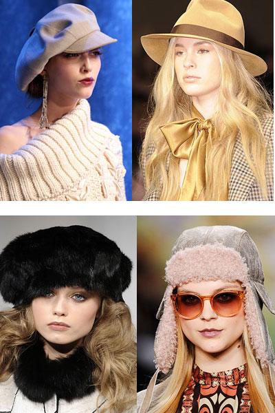 Модные головные уборы для девушек.
