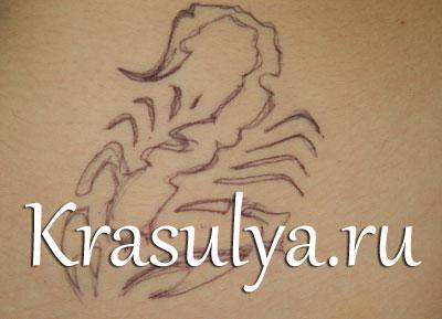Татуировки хной фото скорпион