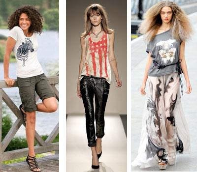 Модные топы и футболки 2011 для девушек.