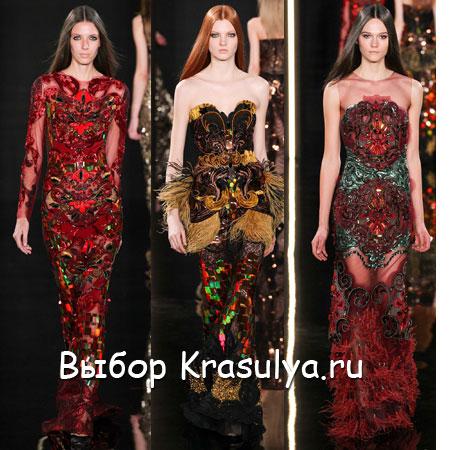 Платье от юдашкина красно